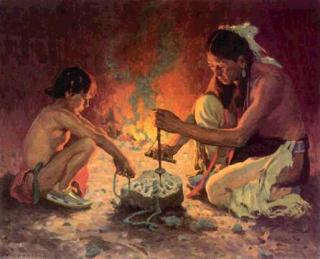 Native american smoking