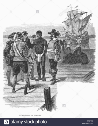 Jamestown-slavery-1619-nthe-introduction-of-african-slavery-into-the-FFBR7B